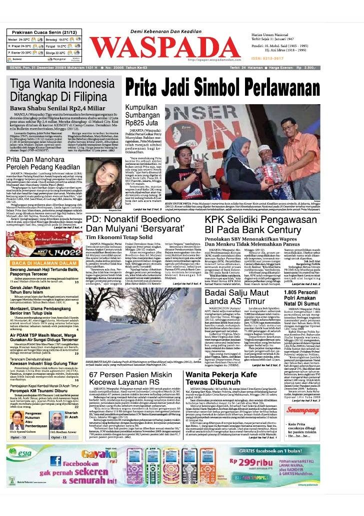 WASPADA  Senin  21 Desember 2009                                                                                          ...