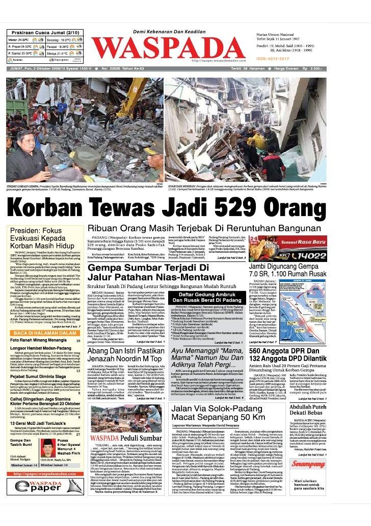 WASPADA  Jumat  2 Oktober 2009                                                                                            ...