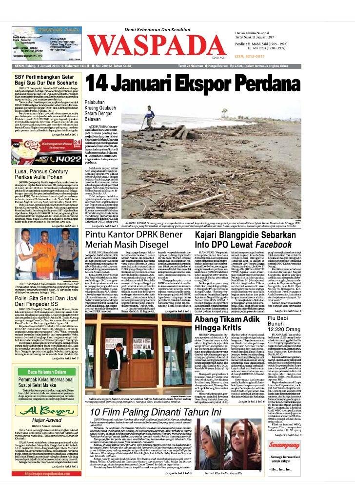 Edisi  4 Jan Aceh
