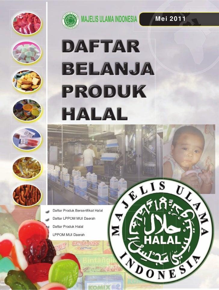 [Edisi  mei 2011] daftar produk halal (mui)