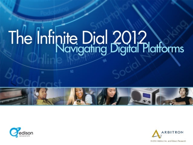 © 2012 Arbitron Inc. and Edison Research