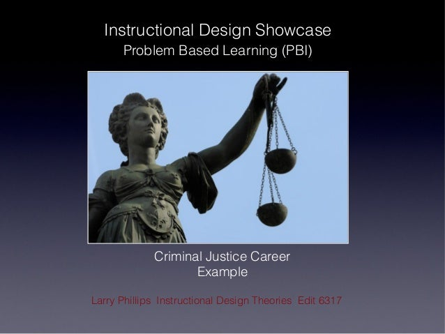 Instructional Design Showcase      Problem Based Learning (PBI)             Criminal Justice Career                    Exa...