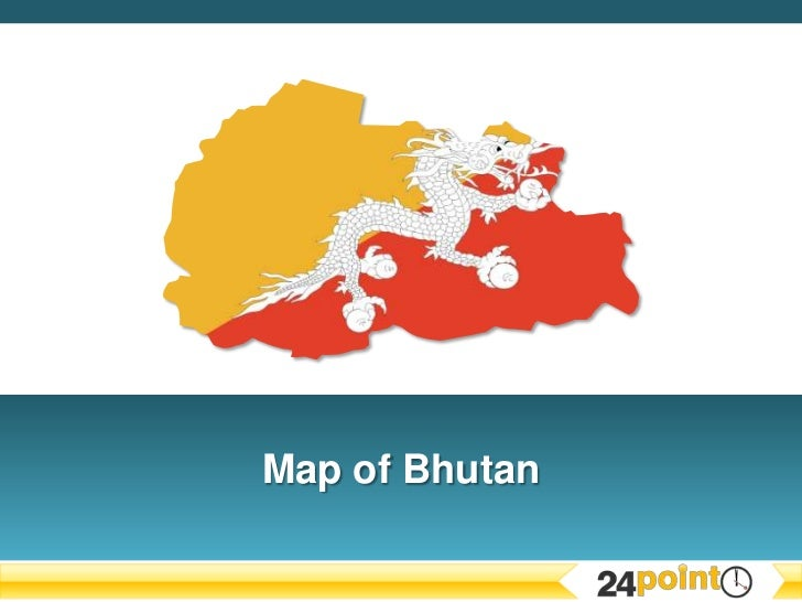 PowerPoint Map of Bhutan
