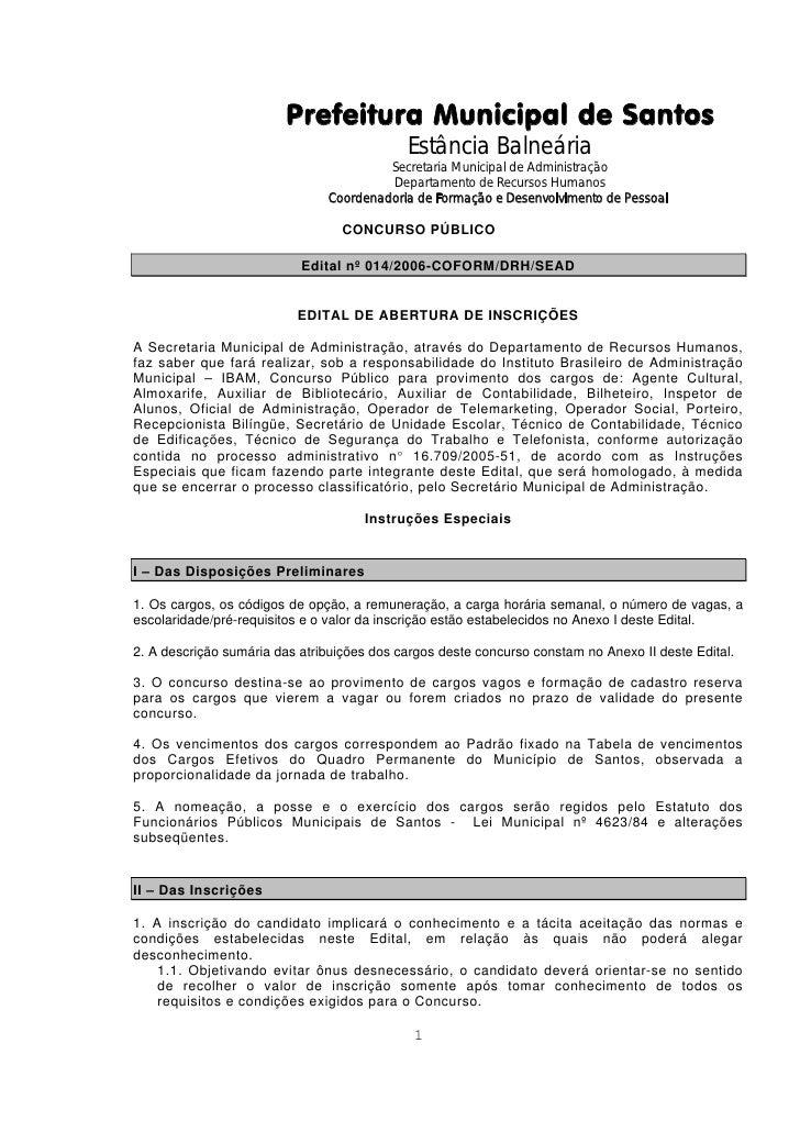Prefeitura Municipal de Santos                                             Estância Balneária                             ...