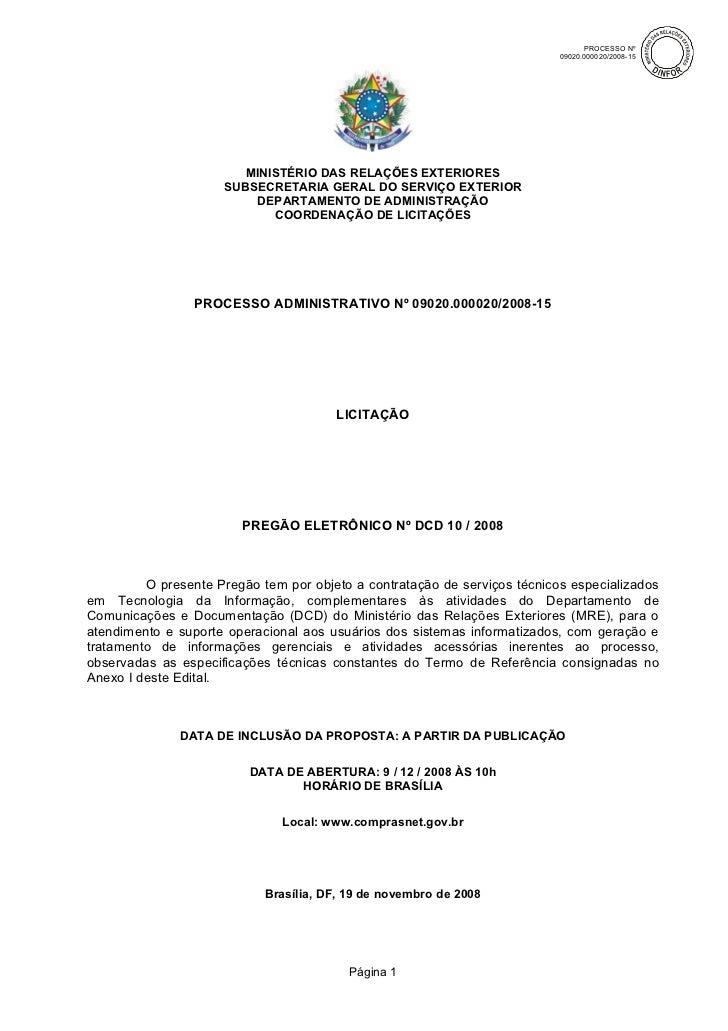 Edital pregao-mre-dcd-10-2008