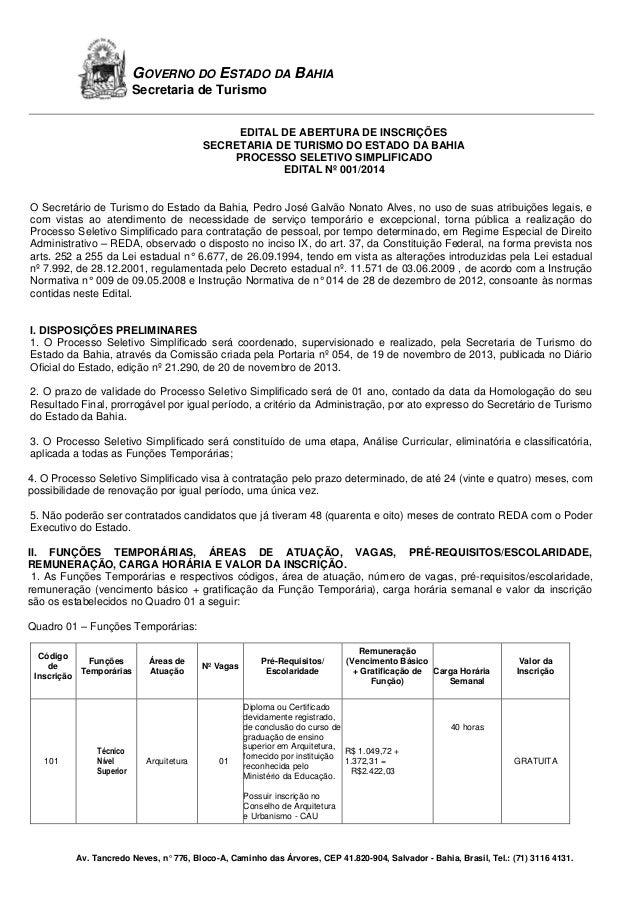 Edital reda 001-2014 pedagogo e arquiteto  10.02.2014