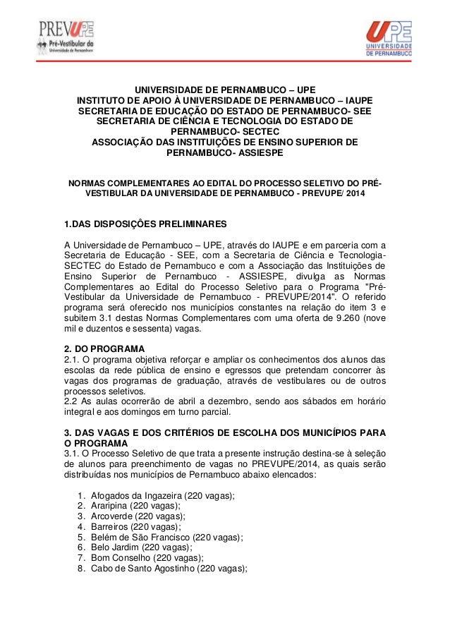 UNIVERSIDADE DE PERNAMBUCO – UPE INSTITUTO DE APOIO À UNIVERSIDADE DE PERNAMBUCO – IAUPE SECRETARIA DE EDUCAÇÃO DO ESTADO ...