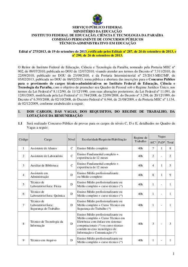 Edital 275 2013_tecnico_administrativo_retificado pelos editais 287-2013 e 290-2013