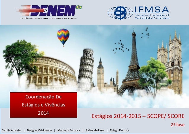 Edital DENEM 2ª fase scope score