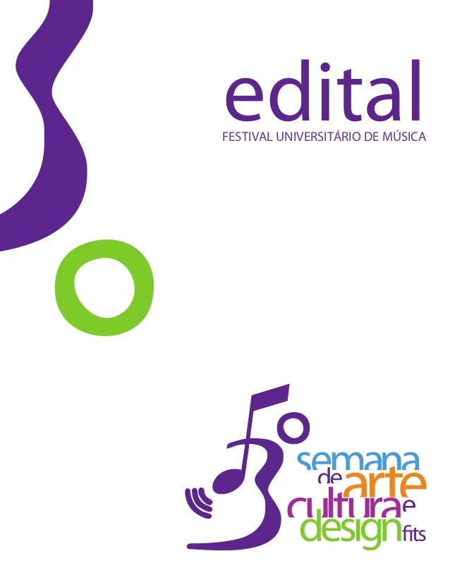 FESTIVAL UNIVERSITÁRIO DE MÚSICA edital