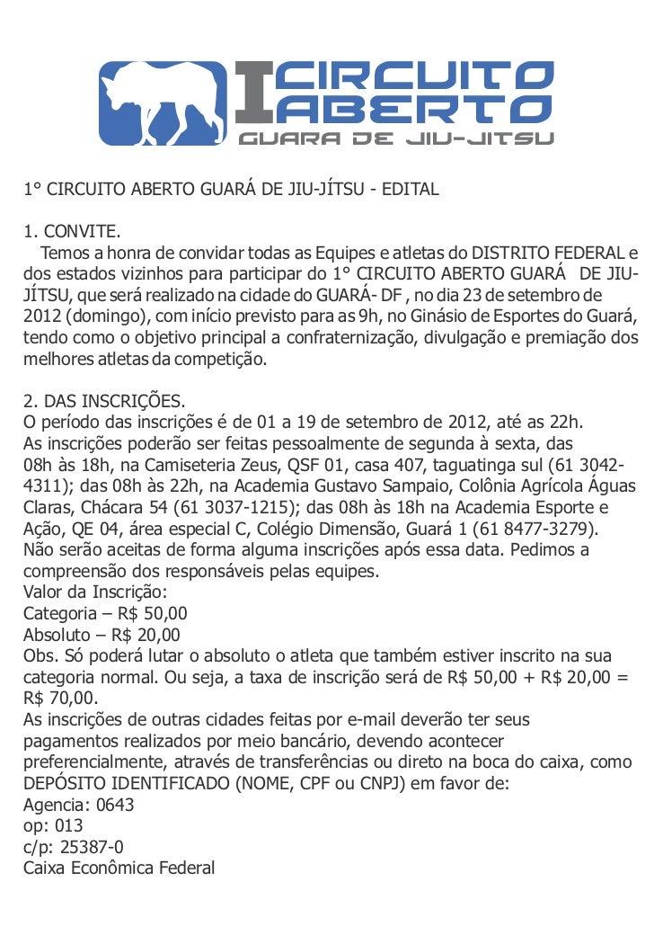 circuito                             aberto                           guara de jiu-jitsu1° CIRCUITO ABERTO GUARÁ DE JIU-JÍ...