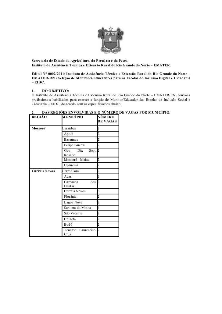 Secretaria de Estado da Agricultura, da Pecuária e da Pesca.Instituto de Assistência Técnica e Extensão Rural do Rio Grand...