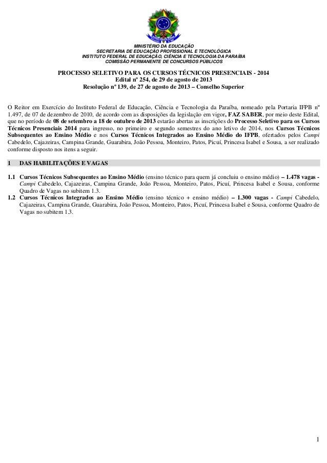 Edital no 254 2013 psct 2014 final