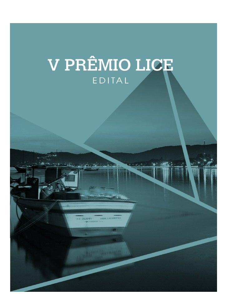 Edital premio lice eneap2012