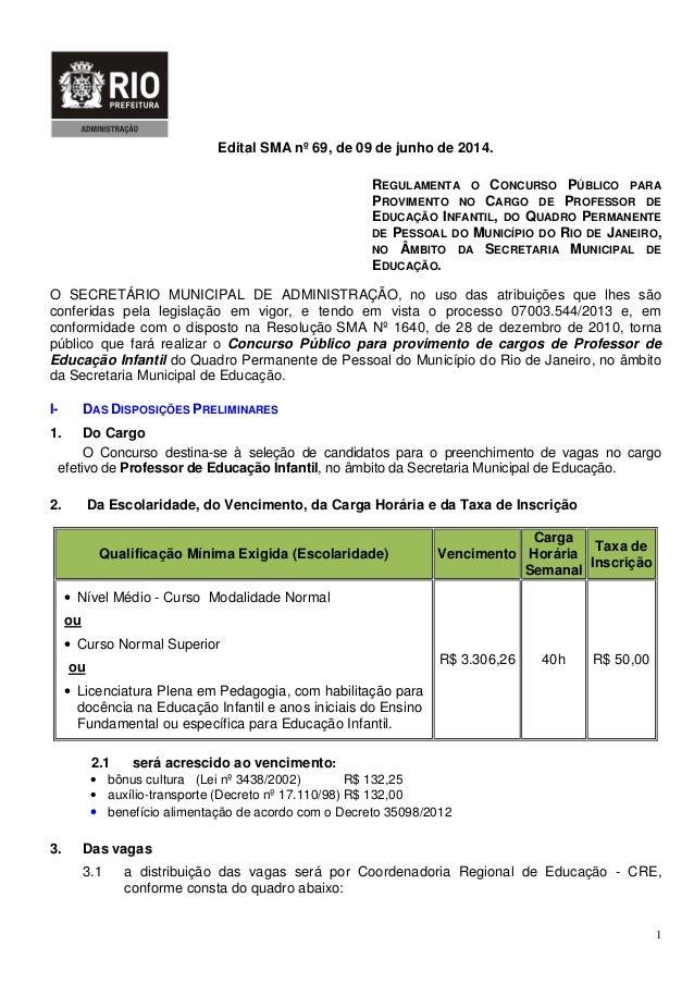 Secretaria Municipal de Educação do RJ 2014