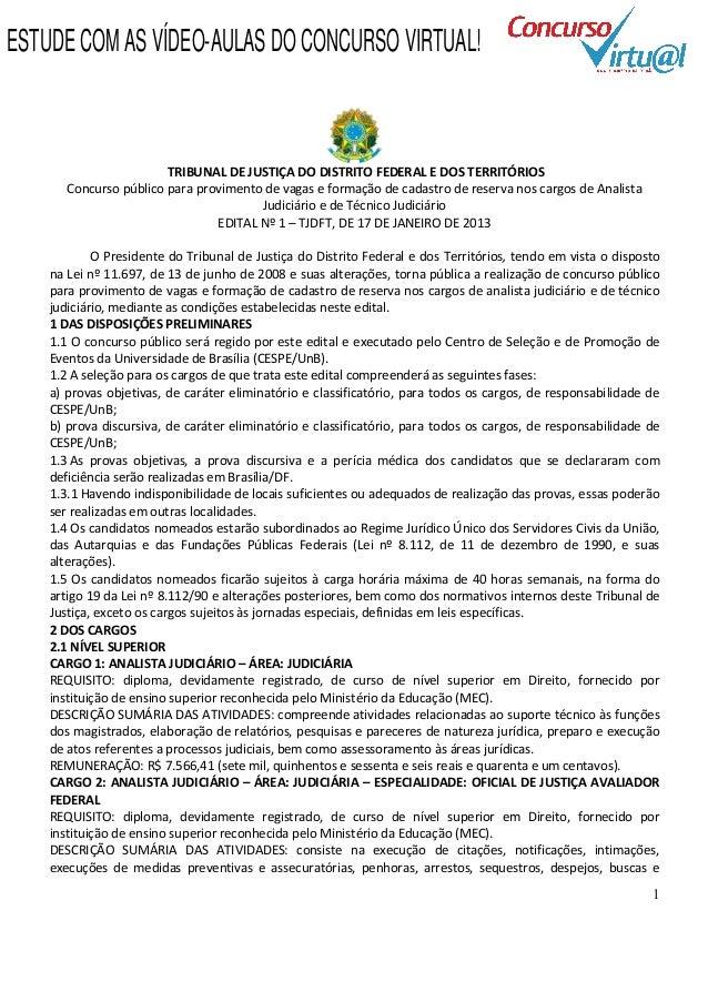 ESTUDE COM AS VÍDEO-AULAS DO CONCURSO VIRTUAL!                        TRIBUNAL DE JUSTIÇA DO DISTRITO FEDERAL E DOS TERRIT...