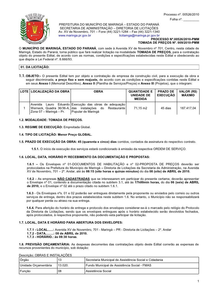 Processo nº. 00526/2010                                                                                                   ...