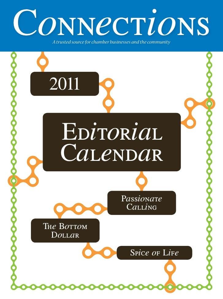 Connections magazine 2011 editorial calendar for Washington County