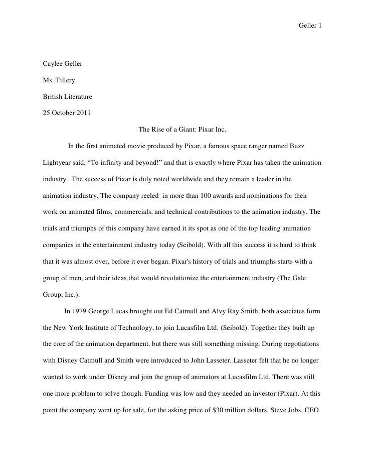 Geller 1Caylee GellerMs. TilleryBritish Literature25 October 2011                                   The Rise of a Giant: P...
