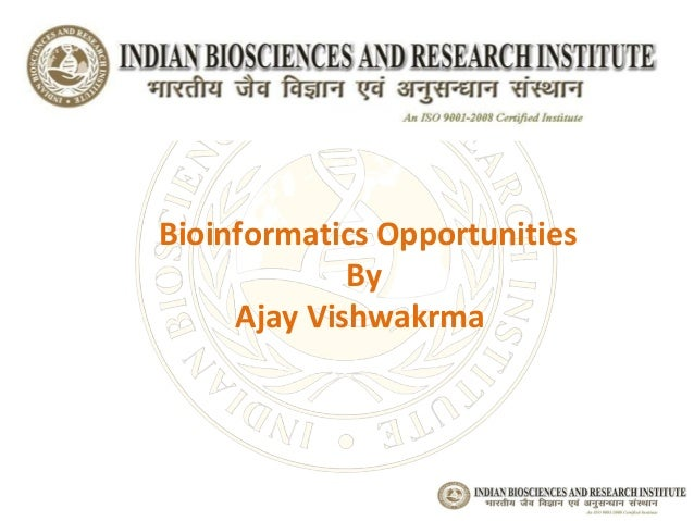Bioinformatics Course at Indian Biosciences and Research Institute