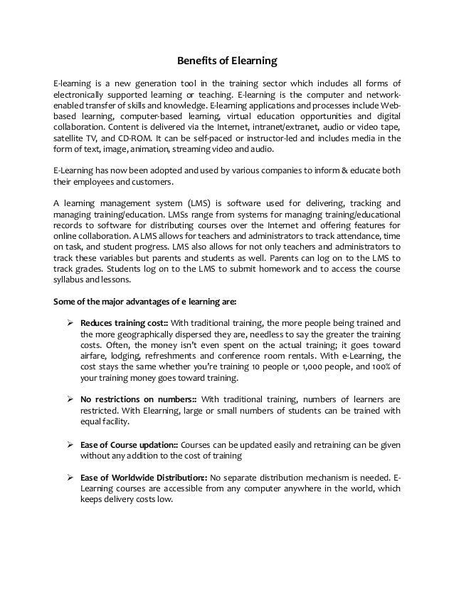 Benefits of Elearning - www.enhancelearning.co.in