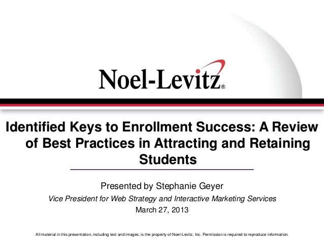 Missouri ACT Identified Keys to Enrollment Success