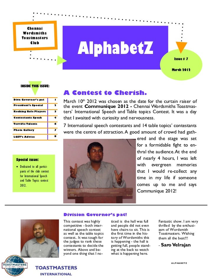 Newsletter 7   march 2012