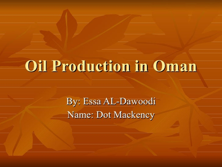 Edited oil production in oman