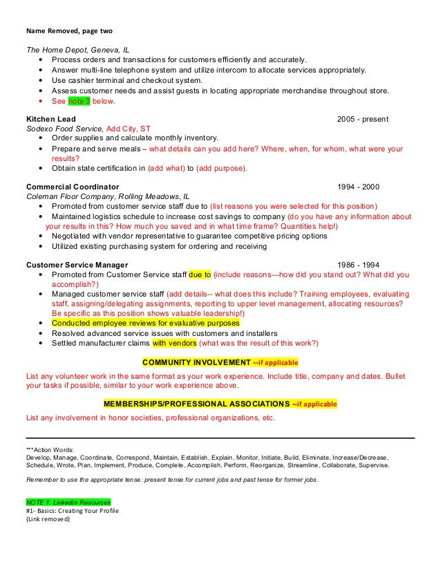 adding volunteer work to resumes