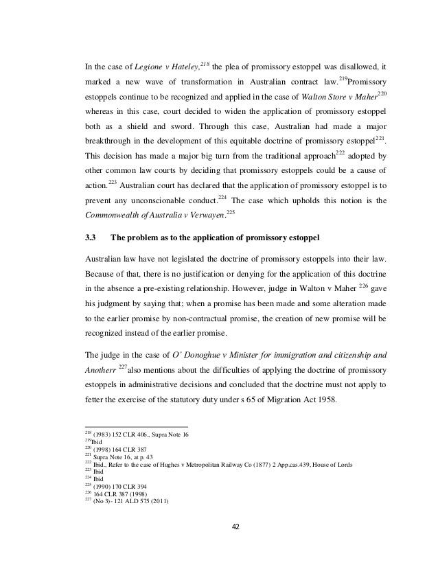 Legislating Promissory Estoppel IN Malaysia