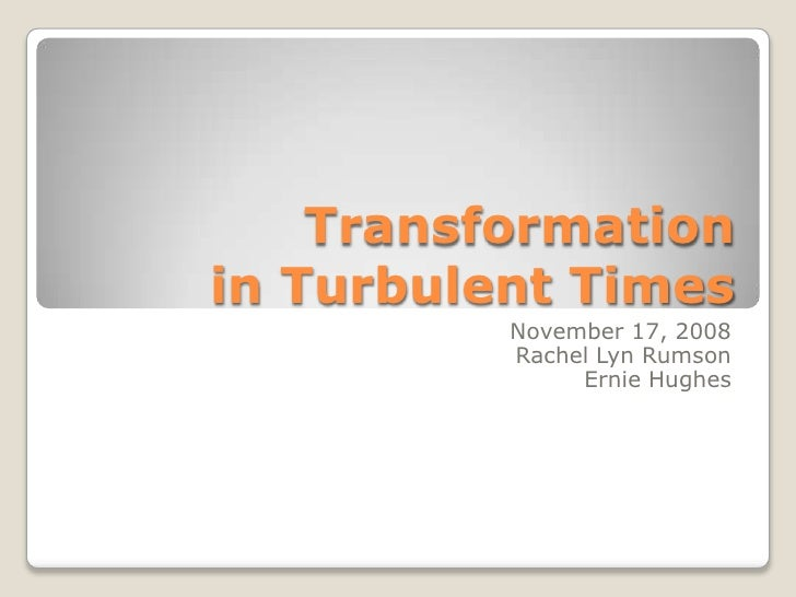 Pacific Northwest OD Network - Transformation in Turbulent Times