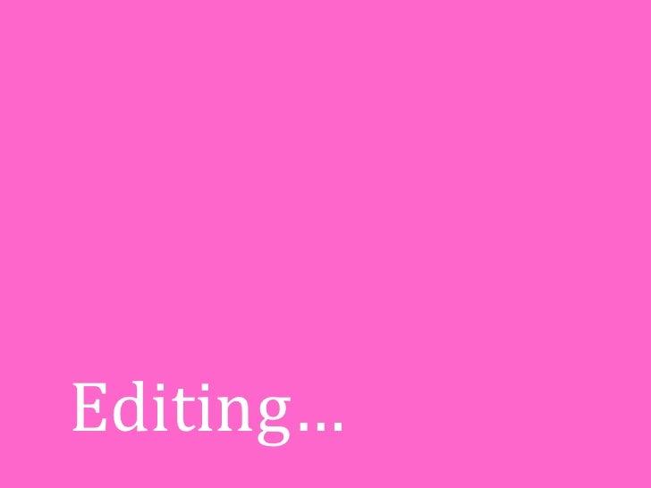 Editing…<br />