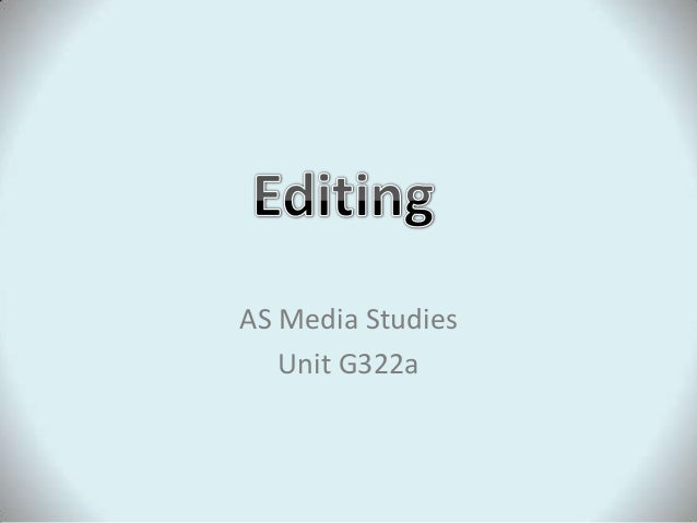 Editing Lesson 2013