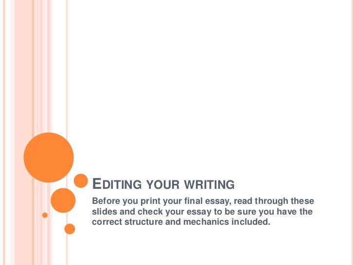 Editing services rates