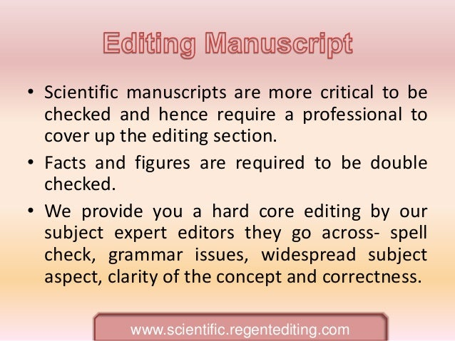Editing manuscripts