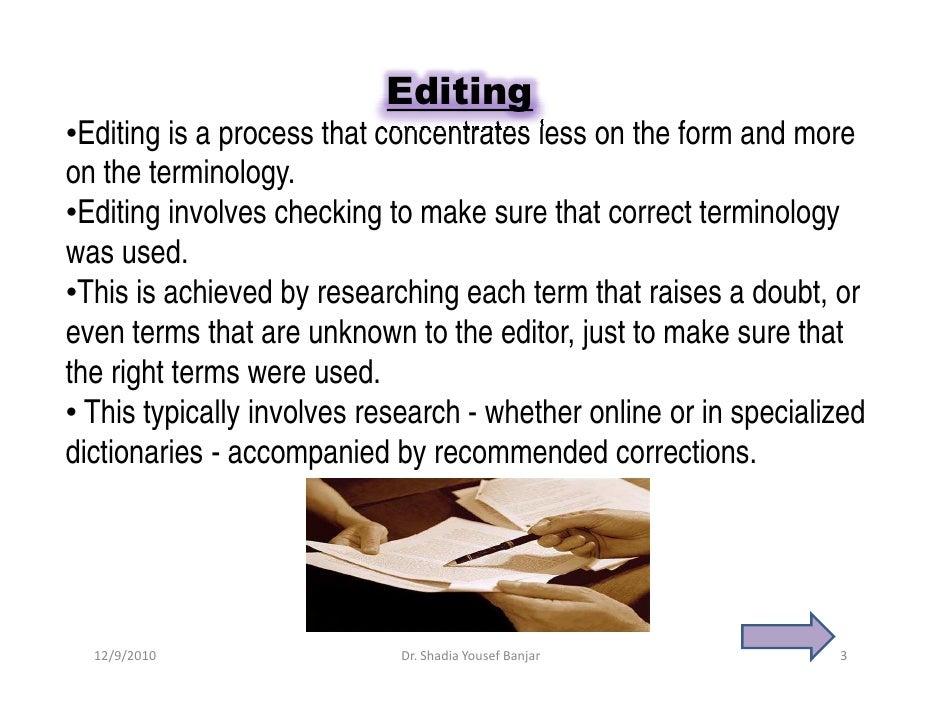 Proofreading editor