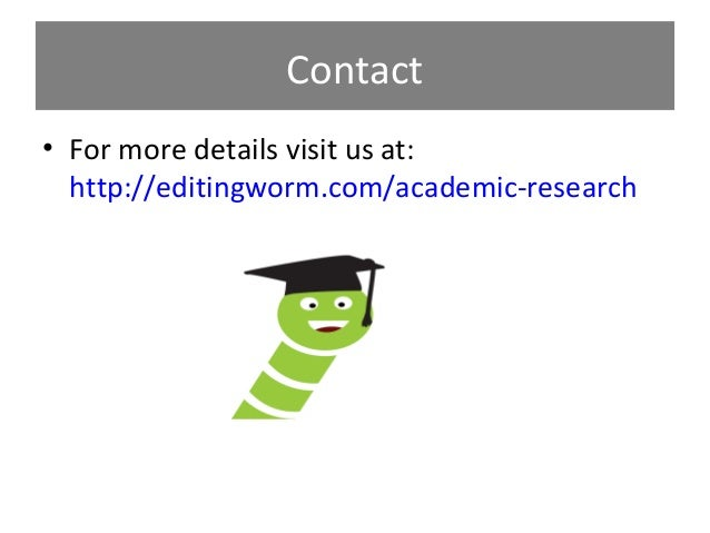 Academic research paper services