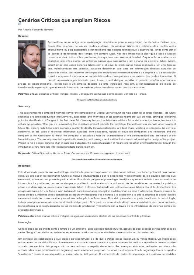 08/04/2015 EditoraRoncaratiCenáriosCríticosqueampliamRiscos|ArtigoseNotícias https://www.editoraroncarati.com....