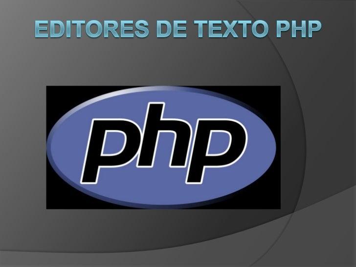 Editores de texto PHP