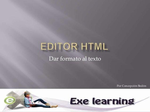 Editor html en eXelearning