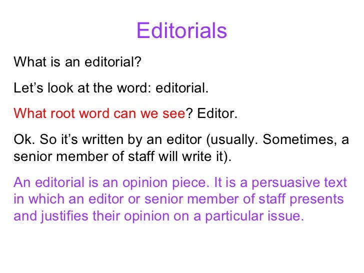 Is this a good editorial?