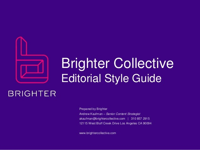 What is an Editorial Style Guide?
