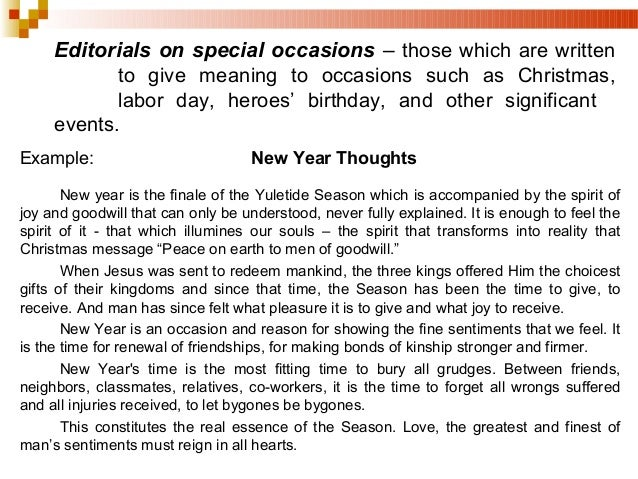 Yuletide season essay