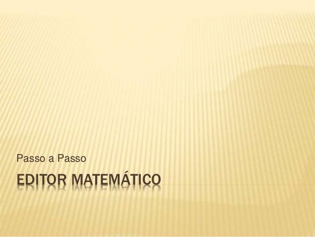 Editor matemático