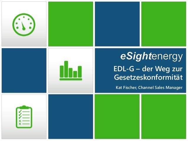 EDL-G – der Weg zur Gesetzeskonformität Kat Fischer, Channel Sales Manager