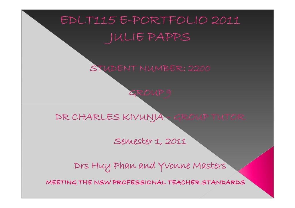 Edlt115 e portfolio 2011 julie papps