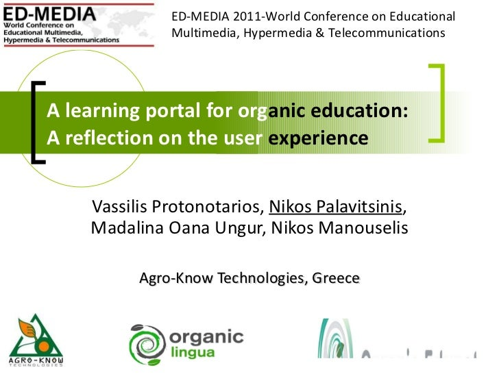 A learning portal for organic education: A reflection on the user experience
