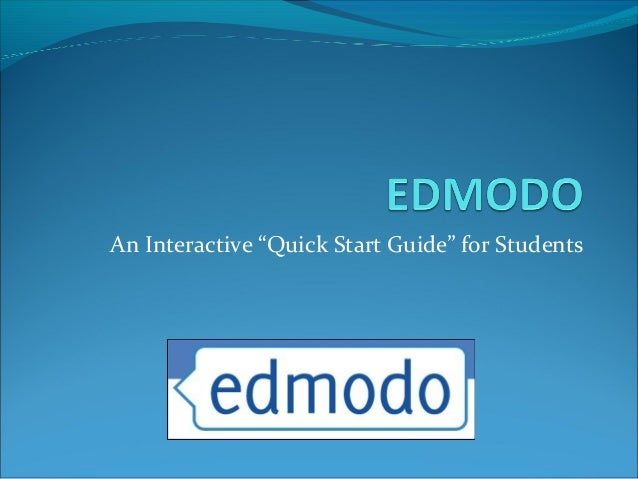 "An Interactive ""Quick Start Guide"" for Students"