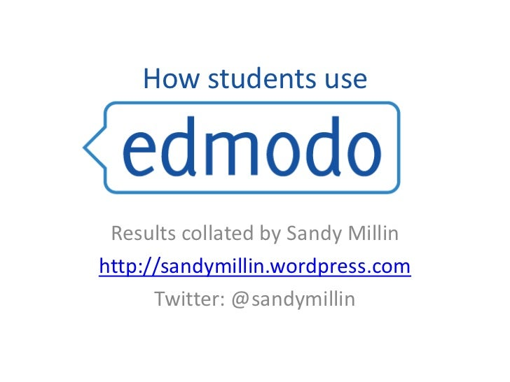 How students use<br />Results collated by Sandy Millin<br />http://sandymillin.wordpress.com<br />Twitter: @sandymillin<br />
