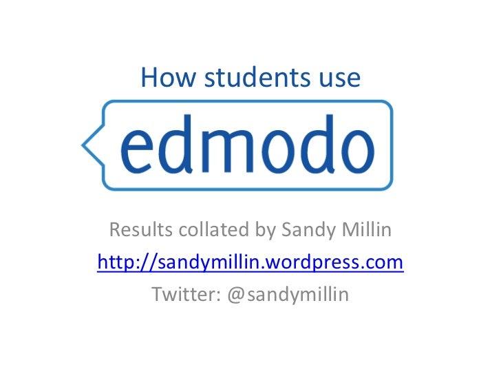 Edmodo 2010-2011 student survey results